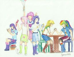 Humanized Equestria Girls by syanon001