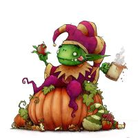 Goblin's Autumn Feast by Plognark