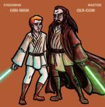 Padawan and Master by K-Zlovetch