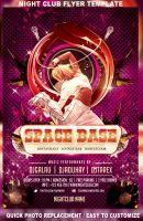 Space base naight club flyer template by mihaimcm94
