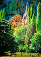 Le clocher by Acrylinne