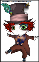 ALICE IN WONDERLAND: Hatter by underxmyxumbrella