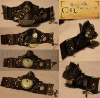 Steampunk watch 00 pirate like by Cirdann72