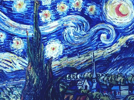 Blind Arts : Starry Night (Sweet Wrapper Painting) by JeremyArts