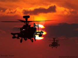 Apache AH-64 by Distantstarr