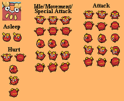 Darumaka - PMD custom sprites by PowerCristal