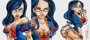 Grimm Fairy Tales Sela sketch cards by KidNotorious