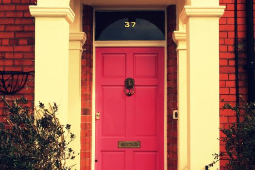 Pink Front Door by givehimaslap