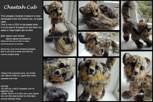 Adorable Poseable Cheetah cub! SOLD by Yechii