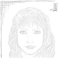 female face sketch by jam-bad