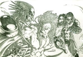 Captain Africa, Purge vs Lechcron (comm(pencils)) by emmshin
