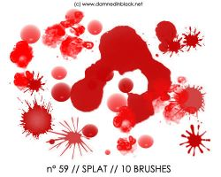 PHOTOSHOP BRUSHES : splat by darkmercy