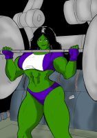She Hulk GYM color by wyattx