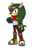 Sonic Channel Style - Yuu .:Commission:. by bittybitt39