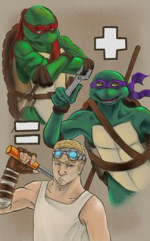Raph+Donnie=Baird by tare-musume