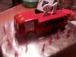 Fire-truck Cake by CatsCakes