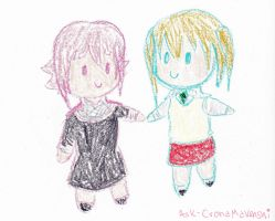 ((OOC)) Crona and Maka Chibis! by Ask-CronaMakenshi