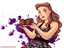 Draw me with Chocolate Cake by Street-Angel