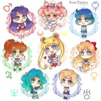 Sailor Moon Sticker and Charms (SHOP UPDATE) by arisa-chibara