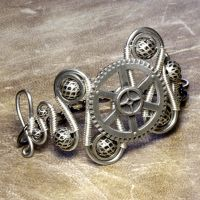 Steampunk Jewelry Bracelet V by CatherinetteRings