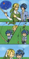 Teaching Marth how to fish by chibi-riri-chan