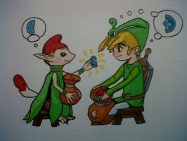 Link - Zelda The Minish Cap by Chiki012