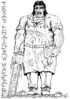 T.C.M.'s Leatherface by dfmurcia