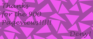 Thanks for the 900 Pageviews by DenyloveThomas