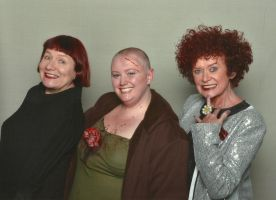 Me with Nell Campbell and Patricia Quinn by gurihere