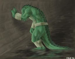 Leatherhead Mourns by Kobb