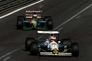 Johnny Herbert | Michael Schumacher (Belgium 1991) by F1-history