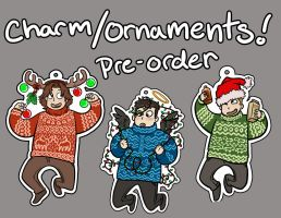 SPN Holiday Ornaments by megmcmuffins