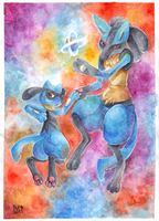 Lucario:Riolu by SUPARIO