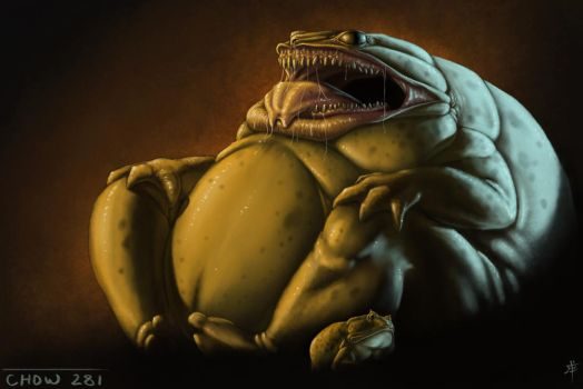 Gluttonous Frog Demon by rob-powell
