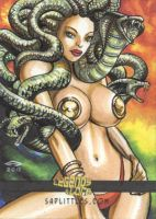 SEXY MEDUSA SKETCH CARD by AHochrein2010