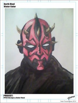 Darth Maul Water Color by stourangeau