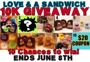 10K Giveaway by loveandasandwich