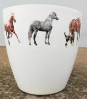 Plastic flower pot, gray horse image by naraosart