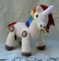 rainbow unicorn amigurumi by TheArtisansNook
