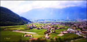 Town in the valley by kUkara4
