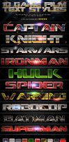 10 Game And Film Text Styles by BassKwong