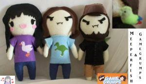 Mortem3r and Game Grumps plushes by TatsuoMizushima