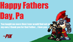 Hunter's father day card by PikminHensley