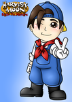 Harvest moon: Boy character by NurulSlaluwBluee