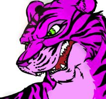 big gay pink tiger by EvilYakko