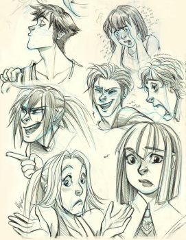 Faces Everywhere  - OC Expression Sketch by Myed89