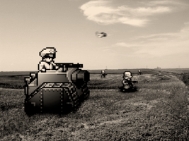 "Retro Old War ""Advance Wars"" by RETROnoob"