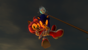 Sonic CD - 'Hang on Tight Amy, We're Going Down!' by Nictrain123