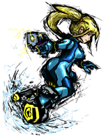 Smash Striker: Zero Suit Samus by Tails1000