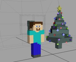 Minecraft Chirstmas 3D by RinnG